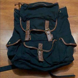Ecote Canvas Rucksack Backpack - Black